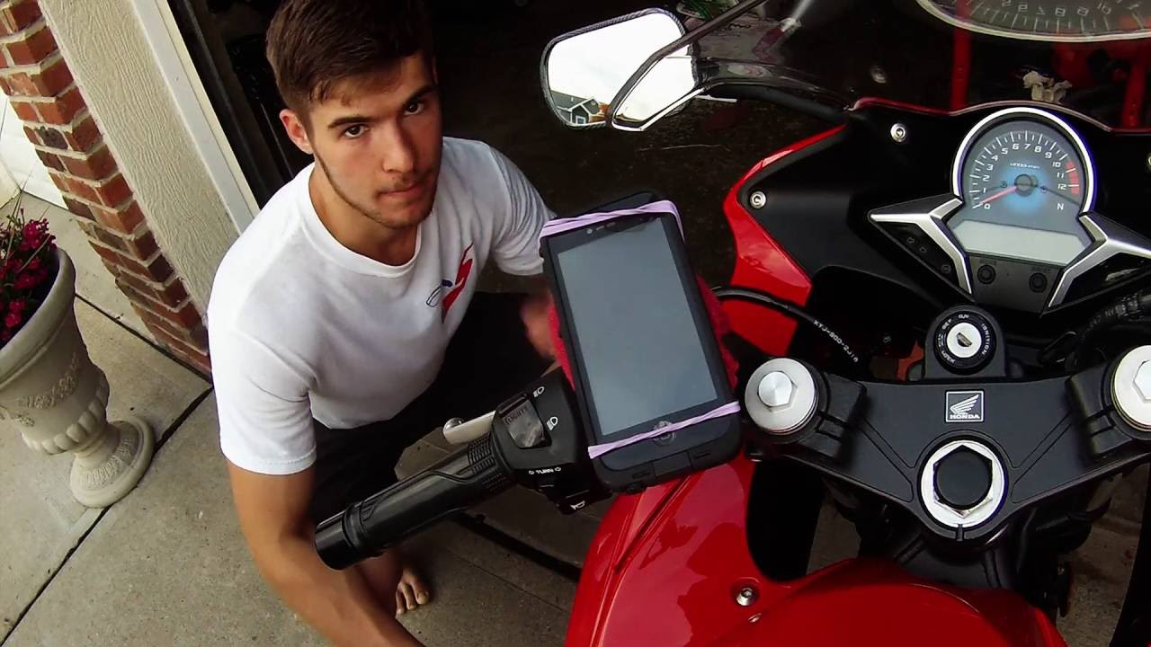 Motorcycle Phone Mount DIY and Cheap! - YouTube
