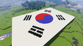 Making Korean flag With 10,000 Wools