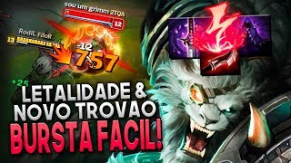 LETALIDADE E O NOVO TROVÃO É BURST FÁCIL! - RENGAR JUNGLE GAMEPLAY - Festinha do Rodil
