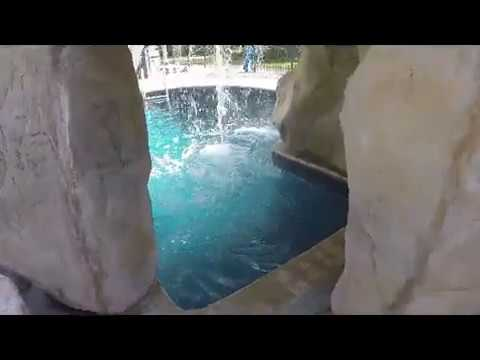 Pool Grotto with Waterfall & Rock Slide