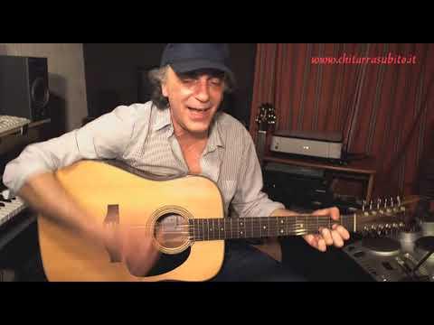 Canzone del sole voce e chitarra acustica