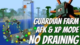 How to make an EASY Guardian Farm with NO DRAINING in Minecraft with AFK & XP Mode (2018) Avomance