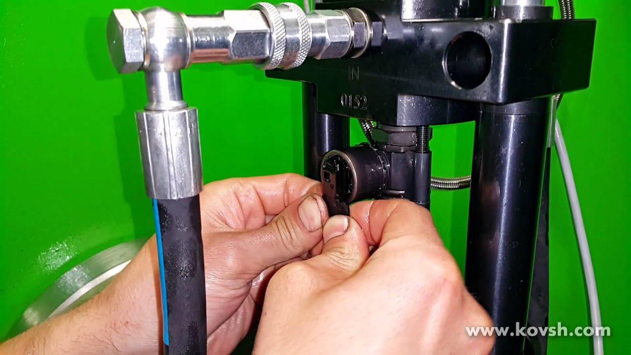Проверка неисправной электромеханической насос форсунки Bosch на стенде Dorpat