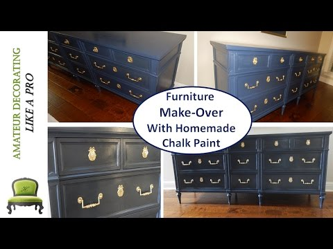 DIY Furniture Make-Over With Homemade Chalk Paint