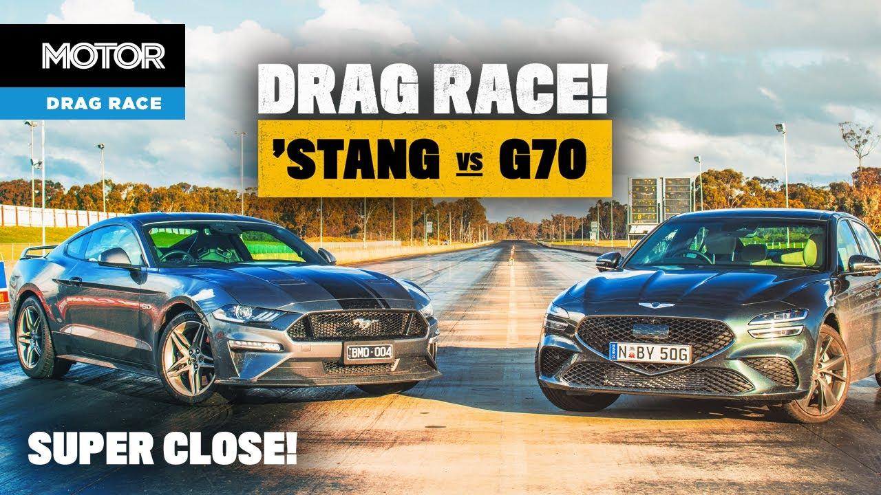 Ford Mustang GT vs Genesis G70: DRAG RACE (shock result!) | MOTOR