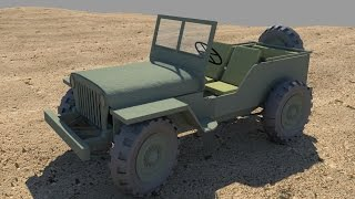 Modeling a Willy's Jeep in Maya Part 1/5