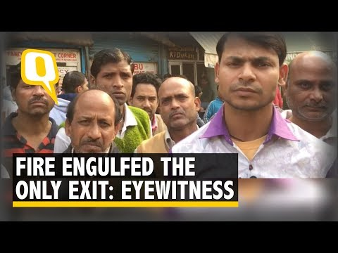 'Fire Engulfed the Only Exit': Eyewitnesses Relate Anaj Mandi Fire