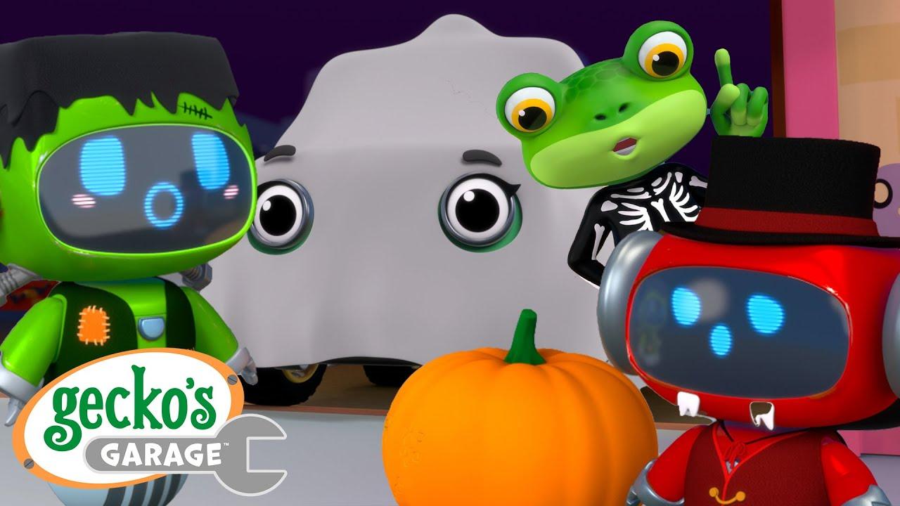 Mechanical Monster Clean Up   Halloween   Gecko's Garage   Trucks For Children   Cartoons For Kids