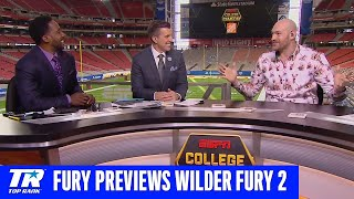Tyson Fury on Wilder Rematch, first fight, changing head trainers & Chase Young | College Gameday