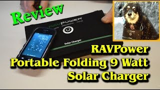RAVPower 9 Watt Portable Folding Solar Charger - Review