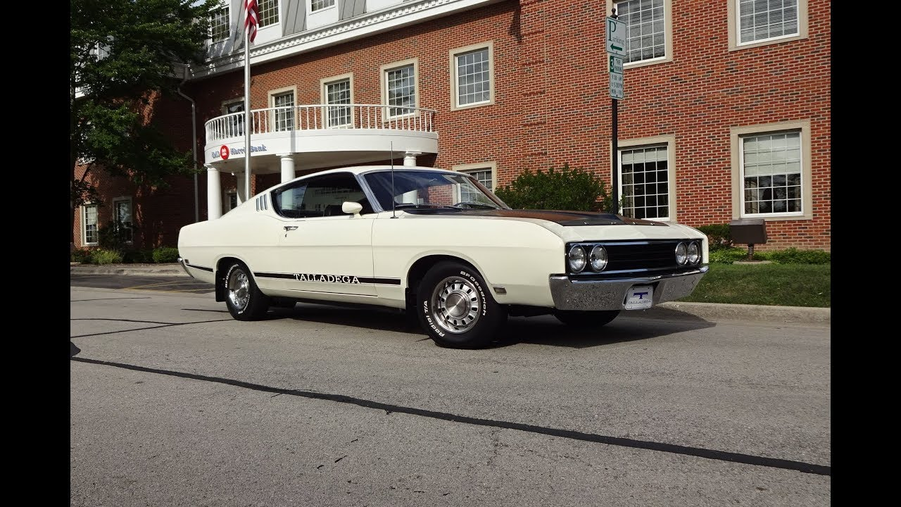Ford Torino Talladega In Wimbledon White  Engine Sound On My Car Story With Lou Costabile
