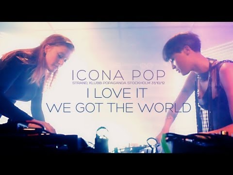 Icona Pop - I Love It / We Got The World - live at Strand Stockholm
