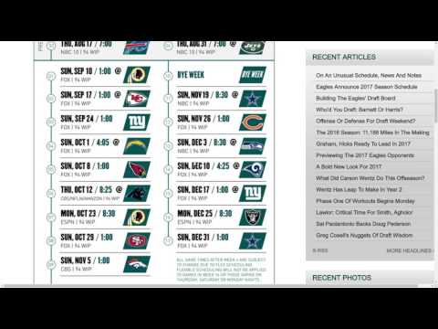 Philadelphia Eagles 2017 NFL Schedule Predictions