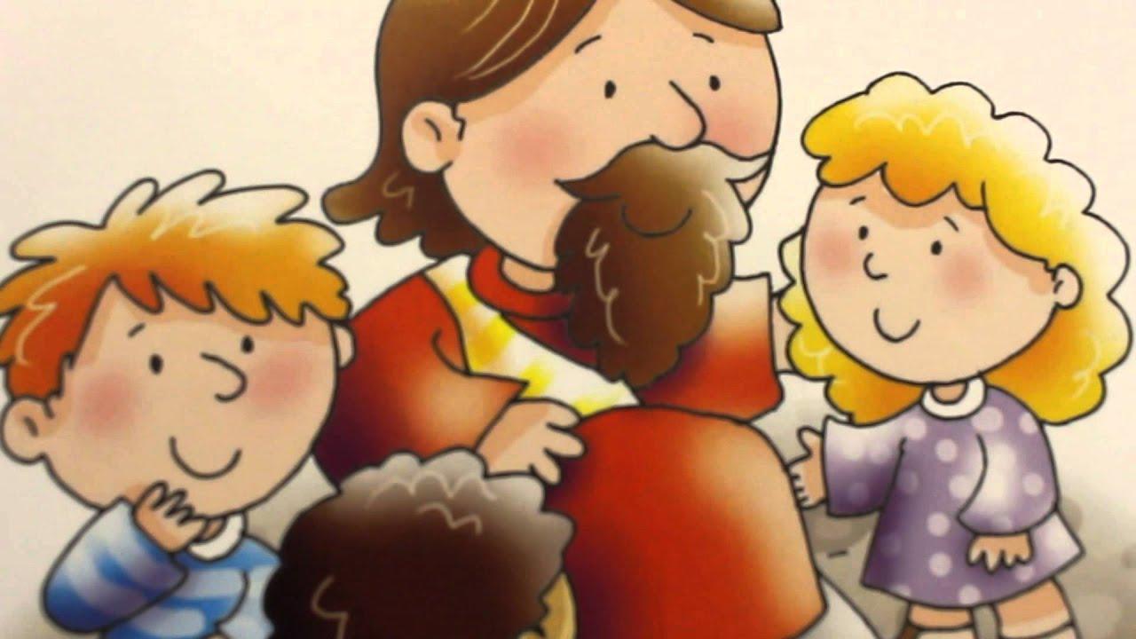 Desenho Bíblico,Jesus e as Crianças.