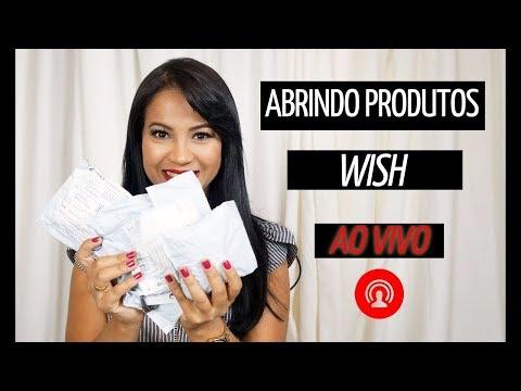 Abrindo Produtos Wish Ao Vivo Com vocês!