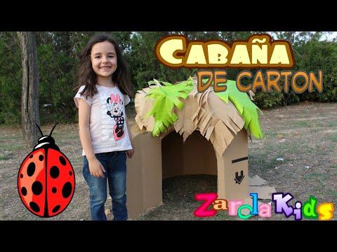 Mi Casita en el campo / Hacemos una cabaña de cartón en el parque MANUALIDADES Zarolakids