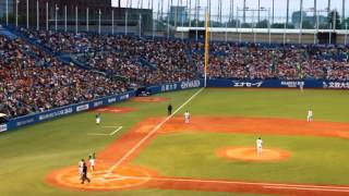 Yomiuri Giants @ Tokyo Yakult Swallows - 1st at bat, 4/25/2015
