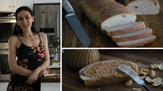 Хлеб Для Сэндвича - Американская Буханка - Арахисовое Масло - Рецепт от Эгине - Heghineh
