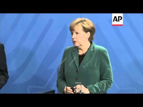 Chancellor Merkel meets PM Abe, comments on Ukraine