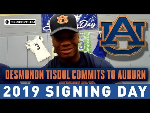 4-star LB Desmond Tisdol Has Commits To Auburn Over Tennessee | 2019 Signing Day | CBS Sports HQ
