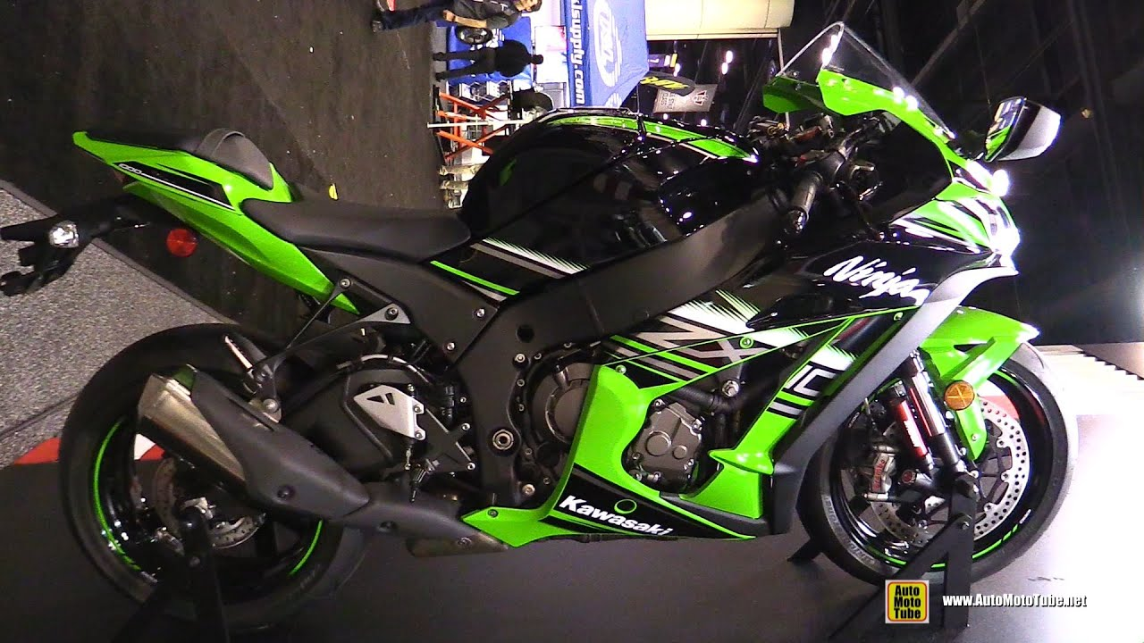 2016 Kawasaki Ninja ZX10R Hanging Bike Naked Frame And Engine Walkaround 2015 AIMExpo Orlando