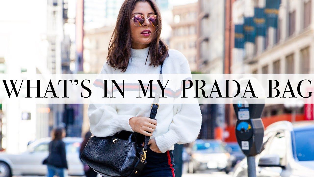 58555a62b5e2 What s In My Prada Bag   How To Take Care of Designer Bags - YouTube
