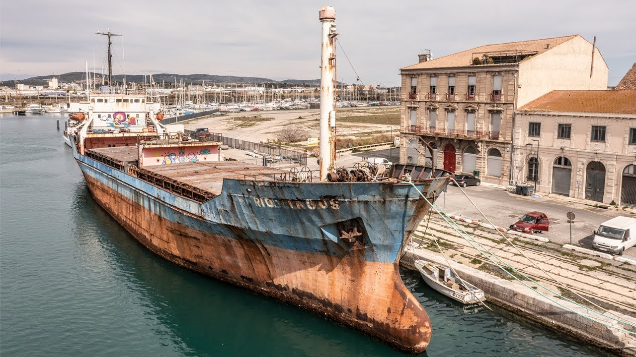 Exploring An Abandoned GHOST SHIP in a French Harbour Town