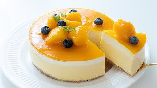 No-Bake Mango Cheesecake*Eggless & Without Oven マンゴーレアチーズケーキの作り方 |HidaMari Cooking