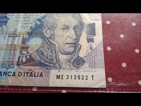 10000 Lire Diecimila  Branca D' Itália 1984 Republica Italiana