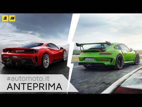 Ferrari 488 Pista vs Porsche 911 GT3 RS 2018: ecco le Regine di Ginevra