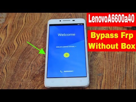 Lenovo A6600d40 Plus frp 100% working by zubair1tai