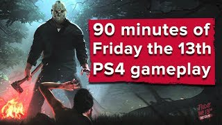 90 minutes of Friday the 13th: The Game PS4 gameplay - Live stream
