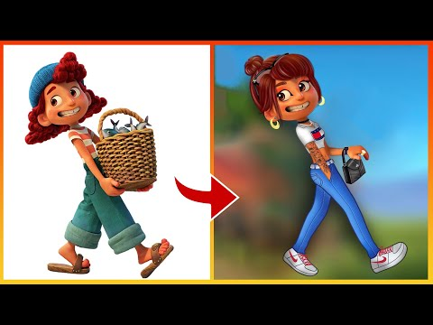 Luca Pixar Glow Up Giulia Into Rich Kid - Luca Disney Funny Videos