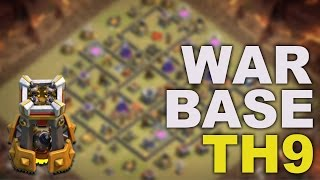 Clash of Clans - Anti 3 Star | TH9 | Elite War Base - 2017