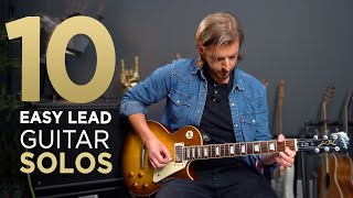 10 EASY Guitar Solos for Beginners