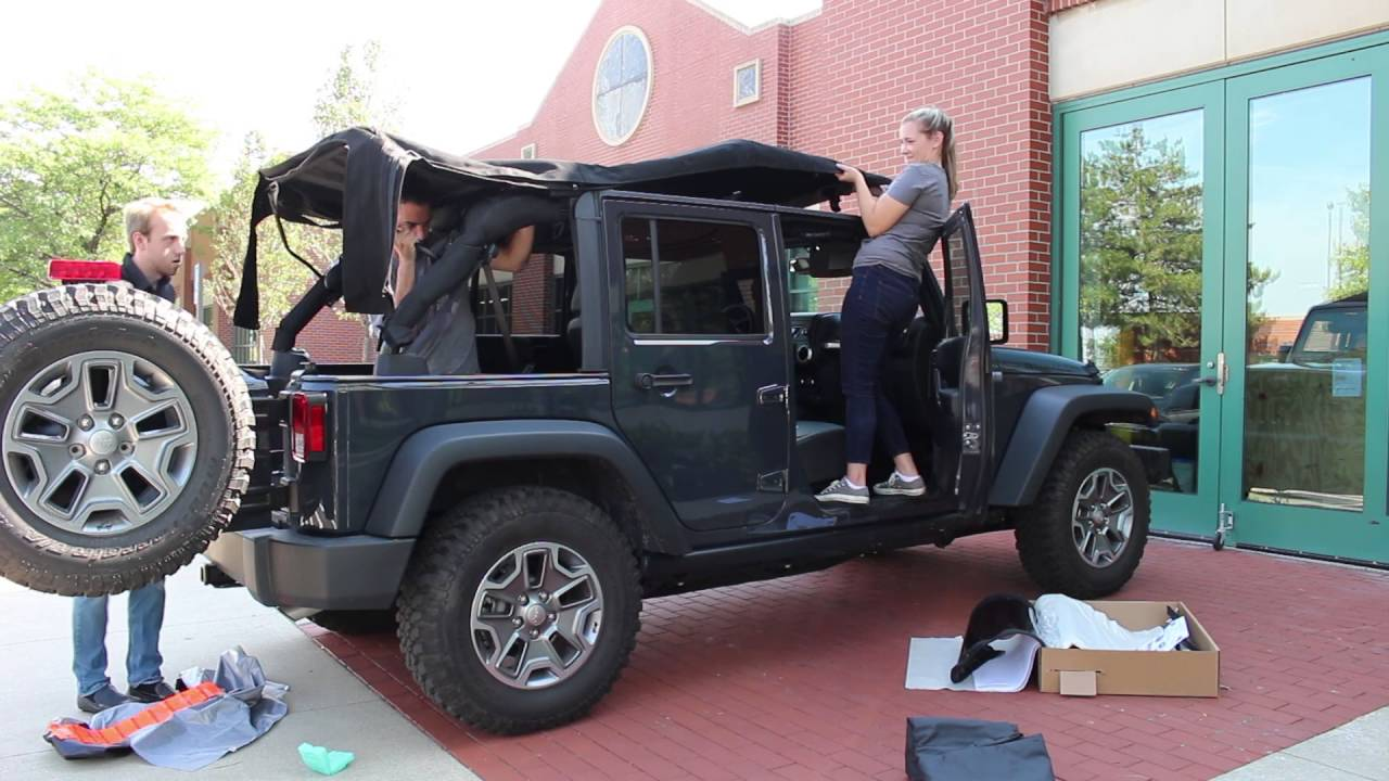 2016 jeep wrangler unlimited soft top install youtube. Black Bedroom Furniture Sets. Home Design Ideas