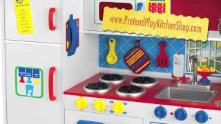 Kidkraft Deluxe Lets Cook Kitchen 53139 - Toy Play Kitchen