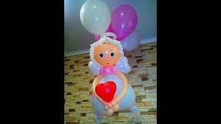 Ангелок из воздушных шаров/The angel of balloons