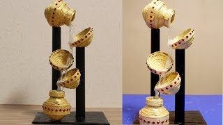 Newspaper Waterfall Showpiece - DIY Crafts