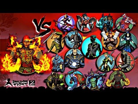 Shadow Fight 2 Legendary Volcano Vs All Bosses