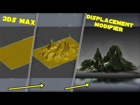 3ds Max | What is Displacement Modifier | How it works? Tutorial *Make realistic Mountains VFX*