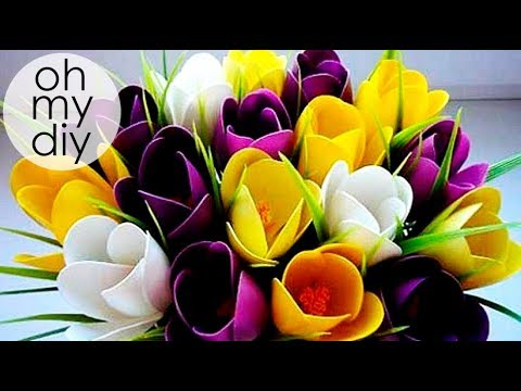 DIY TULIPS Flowers from spoons DIY HOME DECORATION DIY Room Decor