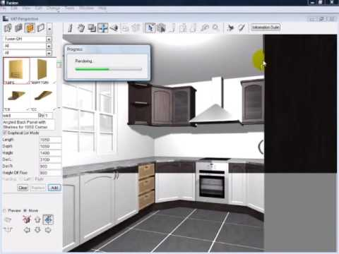 Ten Minute Kitchen Design In Fusion. Maxima Software Part 73