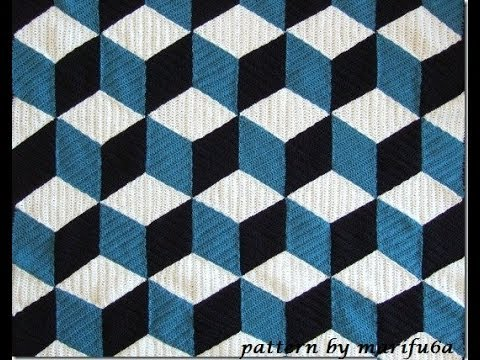 How To Crochet 3d Blanket Afghan Or Rug Free Pattern Tutorial