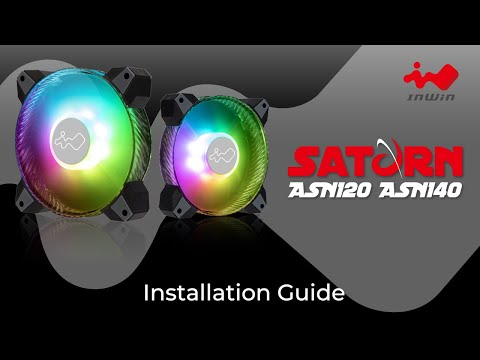 How to install the InWin Saturn ASN120/140 Fan | PC Cooling | InWin