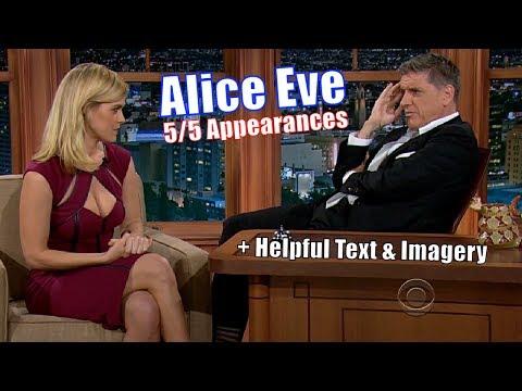 Alice Eve  Do Animals Have Free Will?  55 Appearances on Craig Ferguson Best Q