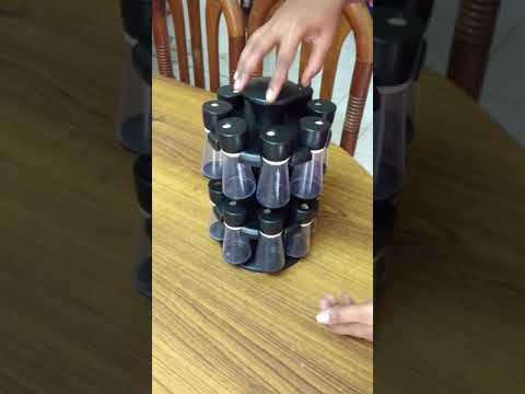 Divine 16pcs revoling spice racks set!flipkart unbox container tamil -Anjaraipetti