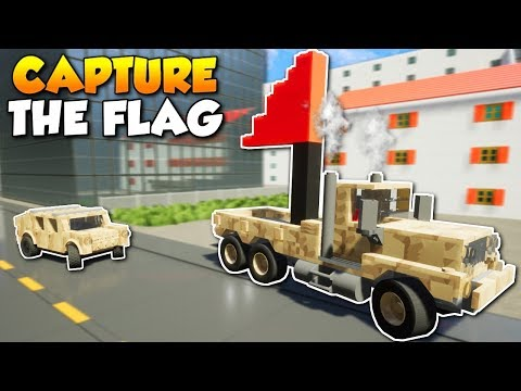 CAPTURE THE FLAG with GUNS! -  Brick Rigs Multiplayer Gameplay & Challenge