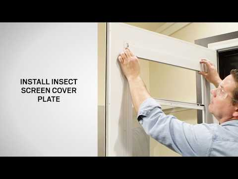 Insect Screen Replacement on Andersen® 10 Series & EMCO® Self-Storing Storm Doors