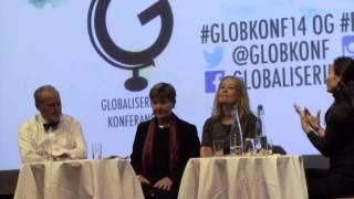 Per Fugelli, Mette Nord og Åsa Linderborg på Globaliseringskonferansen 2014